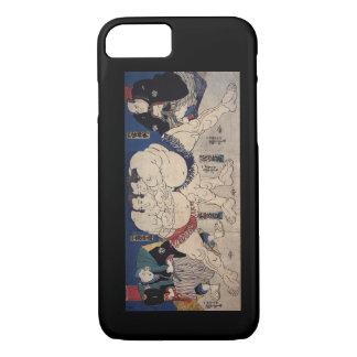 相撲, 国芳 Sumo-Wrestling, Kuniyoshi, Ukiyo-e iPhone 8/7 Hülle