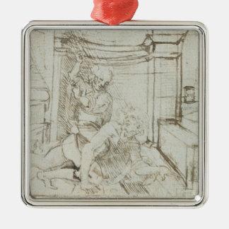 01147 Ludwig Wilhelm, Zählung von Baden, 1705 Quadratisches Silberfarbenes Ornament