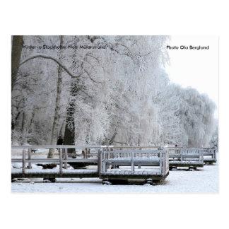 01.  Winter in Stockholm. Norr Mälars… Postkarte