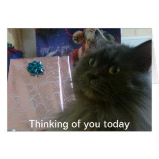 028 23. Dezember 2010, heute denkend an Sie Grußkarte