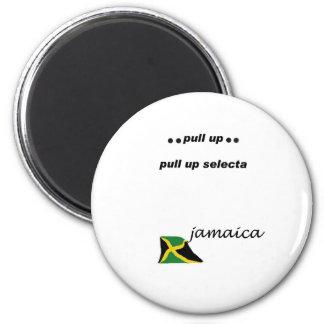 03w Jamaika ziehen selecta hoch Runder Magnet 5,7 Cm
