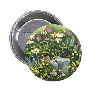 0530 Kegel-Blumen u. Bewässerungs-Dose Runder Button 5,7 Cm