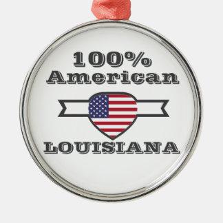 100% Amerikaner, Louisiana Rundes Silberfarbenes Ornament