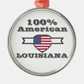 100% Amerikaner, Louisiana Silbernes Ornament