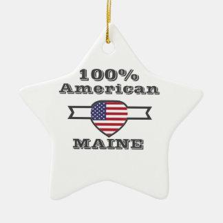 100% Amerikaner, Maine Keramik Stern-Ornament