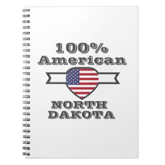 100% Amerikaner, North Dakota Spiral Notizblock