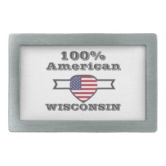 100% Amerikaner, Wisconsin Rechteckige Gürtelschnalle