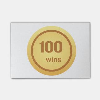100 Gewinne Posten-it® Anmerkungen Post-it Klebezettel