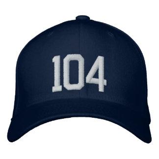 104 gestickte Kappe Baseballmütze