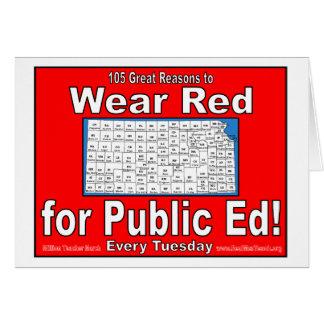 105 große Gründe, Rot für allgemeinen Ed zu tragen Karte