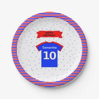 10. Geburtstagsmädchenjungen-Name-Party Pappteller 17,8 Cm