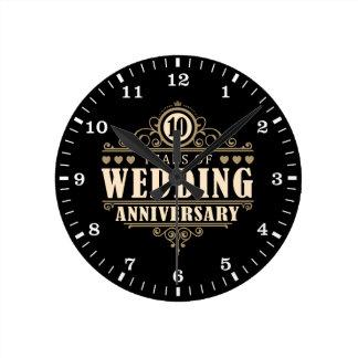 10. Hochzeitstag Wanduhr