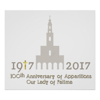 10. Jahrestag von Erscheinungen - Fatima Portugal Poster