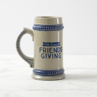 """""""10. jährliches Friendsgiving"""" Stein Bierglas"""