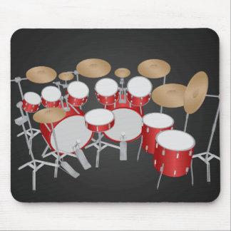 10 Stück-Trommel-Ausrüstung: Vektorzeichnen: Mousepad
