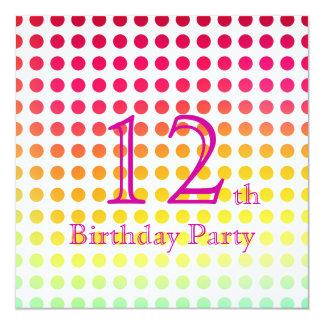 12. Geburtstags-Party Einladung