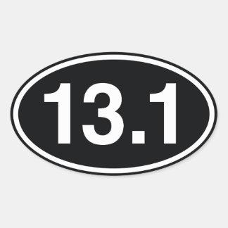 13,1 OVALER AUFKLEBER