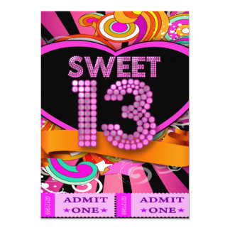 13. Bonbon 13 Geburtstags-Party-Karten-Aufnahme 12,7 X 17,8 Cm Einladungskarte