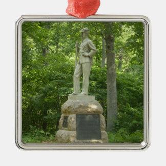 13. Pennsylvania hebt quadratische Verzierung auf Quadratisches Silberfarbenes Ornament