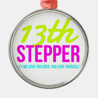 13. Schritt-Nüchternheits-Stipendium-Erholung Silbernes Ornament