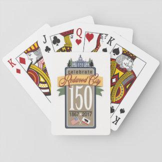 150. Jahrestag Redwood City Spielkarten