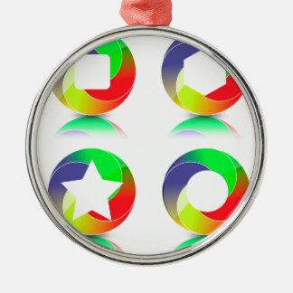 152Set von Icons_rasterized Silbernes Ornament