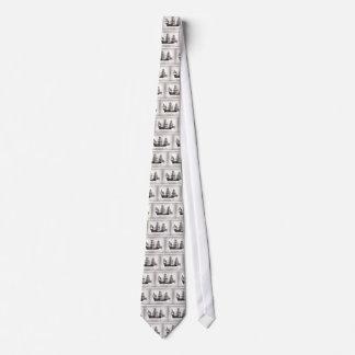 1578 goldenes Hinde Schiff Personalisierte Krawatte