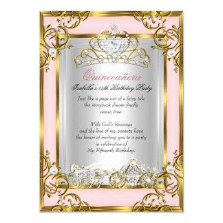 15. Geburtstags-rosa Pfirsich 12,7 X 17,8 Cm Einladungskarte