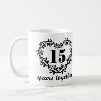 15. Jahrestag 15 Jahre zusammen Kaffeetasse