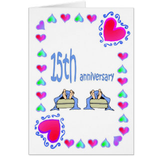 15. Jahrestag Grußkarte
