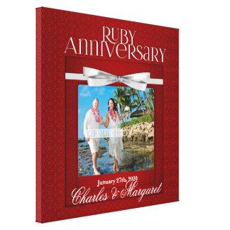 16x16 Jahrestags-Foto-Gewohnheit des Rubin-60. Galerie Gefaltete Leinwand