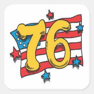 1776 Quadrat-Aufkleber