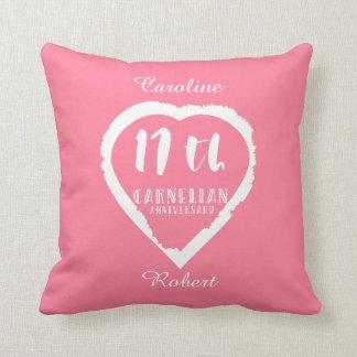 17. Hochzeitstag traditioneller Carnelian Kissen