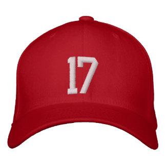 17 siebzehn bestickte baseballkappe