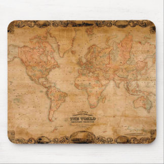 1847 ANTIKE Weltkarte Mousepad