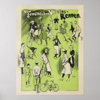 1898 Vintager Fahrrad-Verein läuft Poster