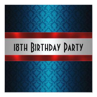 18. der Geburtstags-Einladung des Mannes Quadratische 13,3 Cm Einladungskarte