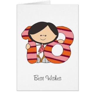 18. Geburtstag - Gruß-Karte - Mädchen