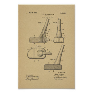 1923 Vintager Golf-Verein-Patent-Kunst-Druck Poster