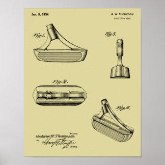 1934 Putter-Golf-Verein-Patent-Kunst, die Druck Poster