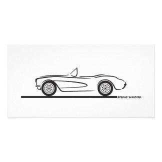 1956 1957 Chevrolet Corvette Photo Grußkarte