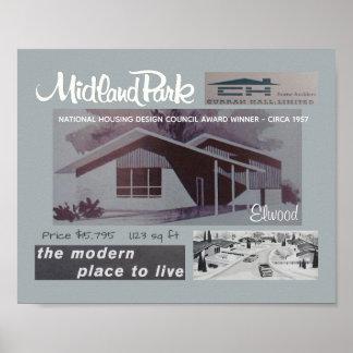 1957 Entwurfs-Preis-Sieger-Mitte- des Poster