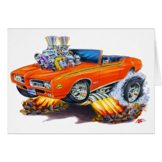 1969 GTO Richter-orange Kabriolett Karte