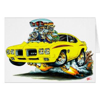 1970 GTO Richter-Gelb-Auto Karte