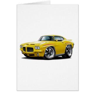 1971 GTO Richter-Gelb-Auto Karte