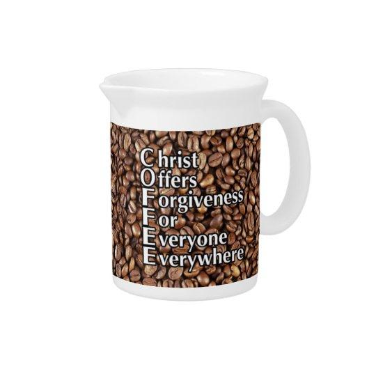 19 Unze-Krug Kaffeebohnen Christus bietet Krug