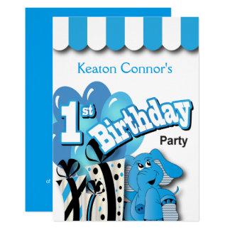 1. der Geburtstags-Party des Baby-Jungen Karte