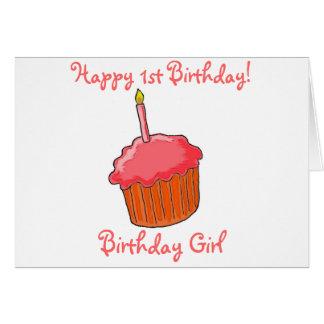 1. Geburtstags-Mädchen-Kunst Grußkarte