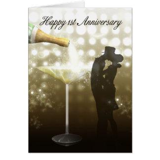 1. Jahrestag - Champagne Karte