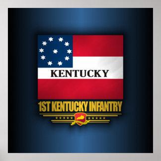 1. Kentucky-Infanterie Poster